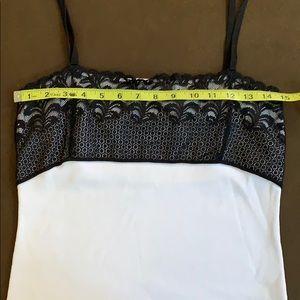 Dana Buchman Tops - Dana Buchman Black Lace/White Top XL Extra Large